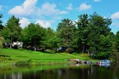 Le Maine rural au bord du lac Image libre de droits