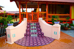 Le MALACCA, MALAISIE - 4 août : Chambre malaise traditionnelle chez Kampung M photos stock