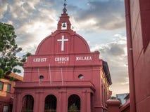LE MALACCA, MALAISIE - 29 FÉVRIER : Église du Malacca le Christ au Néerlandais Squar Image stock