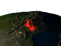 Le Malawi de l'espace la nuit illustration stock