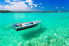 Le Maldive, barca Fotografie Stock