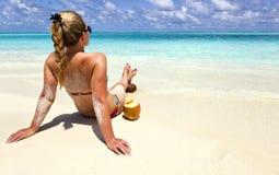Le Maldive - un viaggio al paradiso su terra Fotografia Stock Libera da Diritti