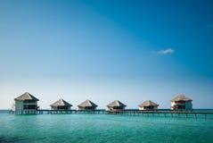 Le Maldive Watervillas Fotografia Stock