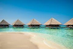 Le Maldive Watervillas Fotografia Stock Libera da Diritti