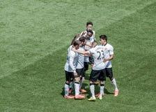 Le Manchester United célèbre Photographie stock libre de droits