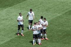 Le Manchester United célèbre Photos stock