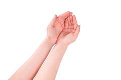 Le mani aperte Immagini Stock