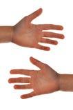 Le mani del bambino Fotografie Stock Libere da Diritti
