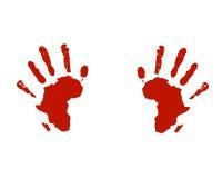 Le mani dell'Africa aiutano il social Fotografie Stock