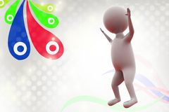 le mani dell'uomo 3d aumentano l'illustrazione Immagine Stock Libera da Diritti