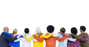 Le mani della gente sulla spalla di ciascuno Immagine Stock Libera da Diritti