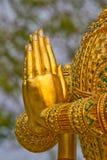 Le mani di preghiera dell'angelo di guardiano Fotografia Stock Libera da Diritti