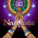 Le mani hanno afferrato Namaste Fotografia Stock Libera da Diritti