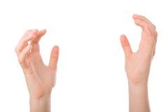 Le mani si aprono nella preghiera Fotografia Stock
