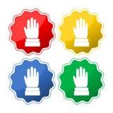 Le mani si sono alzate su, insieme del bottone del segno di voto o di elezione royalty illustrazione gratis