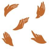 Le mani sono nei gesti differenti Illustrazione Vettoriale