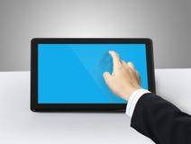 Le mani stanno indicando sul ridurre in pani immagini stock