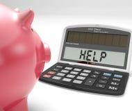 Le manifestazioni del calcolatore di guida prendono in prestito il risparmio e la messa in bilancio illustrazione di stock