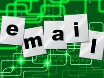 Le manifestazioni del email dei email inviano il messaggio e corrispondono Fotografia Stock