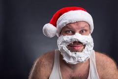 Le mannen i den Santa Claus hatten Arkivfoto