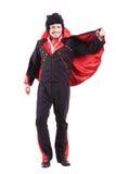 Le mannen i disko70-talstil Elvis begrepp Arkivbild