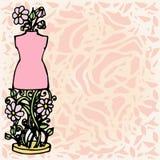 Le mannequin d'illustration, outils pour la mode conçoivent, fond Images stock