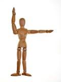 le mannequin a posé en bois Photo libre de droits
