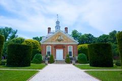 Le manoir du Gouverneur à Williamsburg colonial Images libres de droits