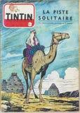 LE MANS, FRANÇA - 16 de julho de 2017: Compartimento de Tintin nenhum 316 eram o 11 de novembro de 1954 banda desenhada popular p Fotografia de Stock Royalty Free