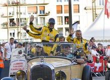 LE MANS, FRANÇA - 16 DE JUNHO DE 2017: Piloto piloto brasileiro de Rubens Barrichello com sua equipe Dallara P217 Gibson 29 em um Imagens de Stock Royalty Free