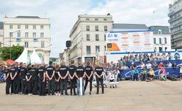 LE MANS, FRANCE - 11 JUIN 2017 : Équipe de coureurs de Fabien Barthez - anciens gardien de but et coureur français célèbres le 11 Photographie stock