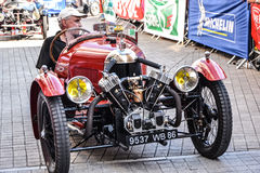 LE MANS, FRANCE - JUNE 13, 2014:Parade of pilots racing.Presentation of Morgan Darmont car. Stock Photos