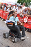 LE MANS, FRANCE - JUNE 13, 2014:Presentation of modern armchair.Parade of pilots racing Stock Photos