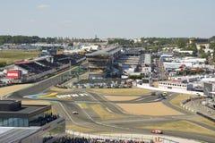 LE MANS - FRANCE, JUNE 17, 2017: Racetrack of a 24 hours at Le Mans circuit. 24 heurs du Mans stock image