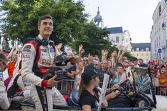 LE MANS, FRANCE - JUNE 16, 2017: Thomas Laurent french pilot with team of Jackie Chan DC racing Oreca 07-Gibson. Winner of races 2 Stock Photography