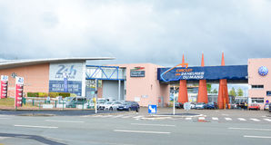 LE MANS FRANCJA, KWIECIEŃ, - 30, 2017: Muzeum samochody 24 godziny Le obsługuje obwód Sarthe, Płaci de los angeles Loire Francja, Zdjęcia Stock