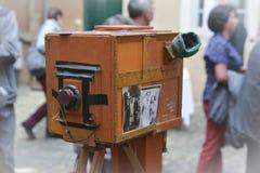 LE MANS FRANCJA, PAŹDZIERNIK, - 02, 2016: Stara duża rocznik kamera Obrazy Royalty Free