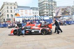 LE MANS FRANKRIKE - JUNI 11, 2017: Racerbil LIGIER JSP217 av Fabien Barthez - berömd tidigare fransk målvakt och racerbil 11 juni Royaltyfria Bilder
