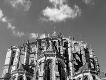 Le Mans katedra, Francja fotografia royalty free