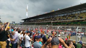 Le Mans pit lane Stock Images