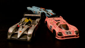 Le Mans 24 racerbilar diecast modeller Arkivfoto