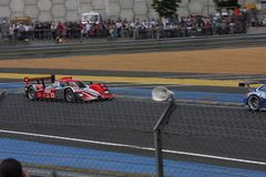 Le Mans racing track racing cars circuit, high speed fast sports car race held in France Europe  Royalty Free Stock Photos
