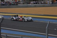 Le Mans racing track racing cars circuit, high speed fast sports car race held in France Europe Stock Photos