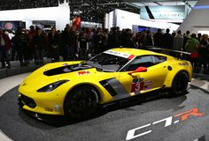 Le Mans Racing Corvette at the NAIAS Stock Photo