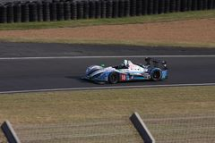 Le Mans-Rennwagen-Stromkreis Stockfotografie