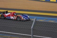 Le Mans-Rennwagen-Stromkreis Stockfotos