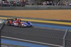 Le Mans-Rennwagen-Stromkreis Stockbild