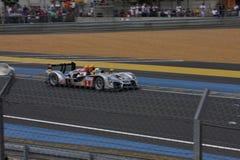 Le Mans-Rennwagen-Stromkreis Lizenzfreie Stockfotografie