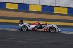 Le Mans-Rennwagen-Stromkreis Lizenzfreies Stockbild