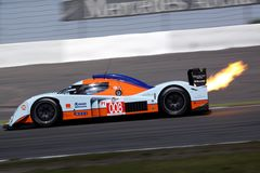 Le Mans Series race(LMS 1000km race). In GERMANY,Circuit Nurburgring,August 23,2009:ASTON MARTIN RACING,Lola Aston Martin Royalty Free Stock Images